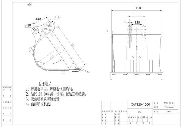BK-CAT320-1000 chart